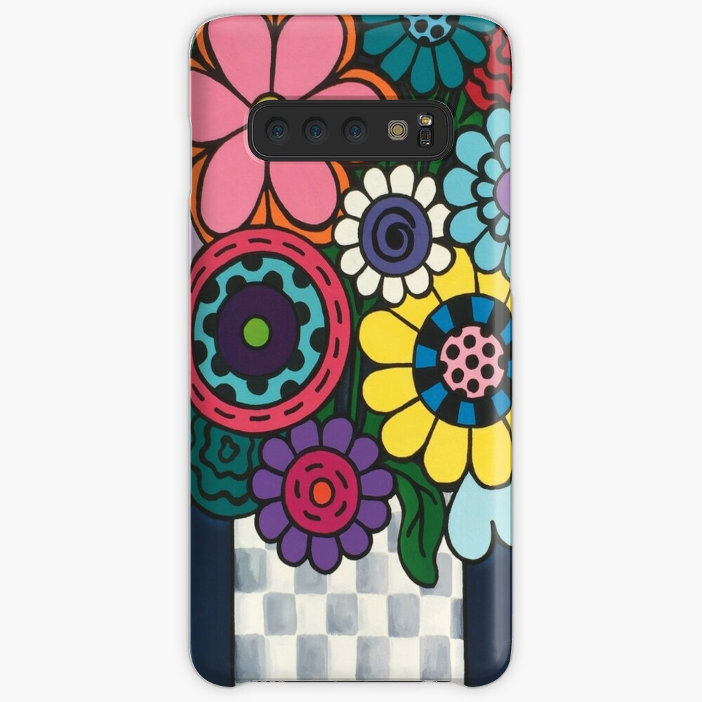 Checkered Bouquet Case & Skin for Samsung Galaxy