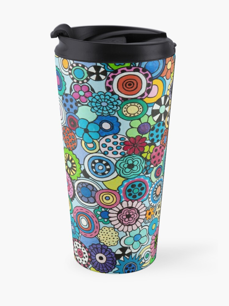 Alternate view of Field of Blooms Travel Mug