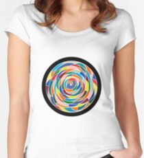 Swirling Abyss Women's Fitted Scoop T-Shirt