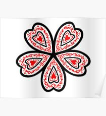 Flowered Heart Poster
