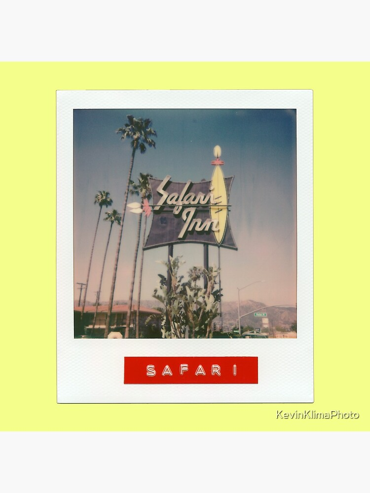 Safari Inn Neon Sign - Original Polaroid by KevinKlimaPhoto