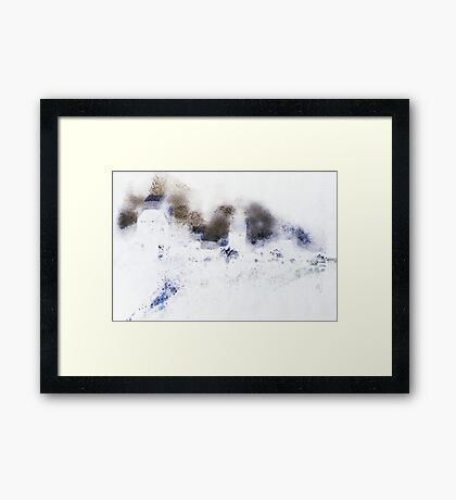 Visby ringwall, Gotland Framed Print