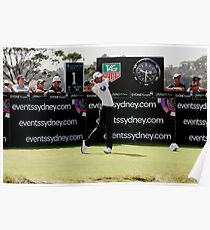 Adam Scott Australian Open Golf Poster