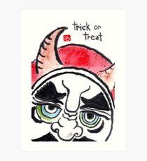 Halloween Daruma 1 (Holiday Daruma Series) Art Print