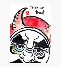 Halloween Daruma 1 (Holiday Daruma Series) Photographic Print