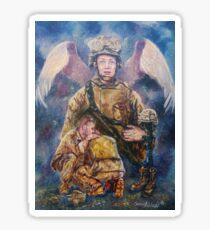 Fallen Soldier Angel Print Sticker