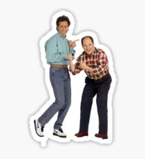 George and Jerry Sticker