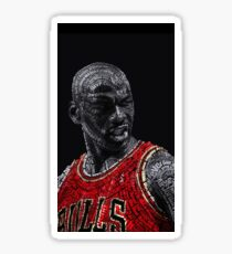 Michael Jordan Typography Sticker