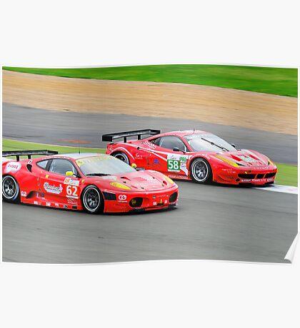 Ferrari GT Racing Poster