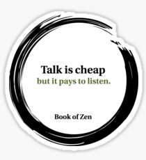 Quote About Listening & Success Sticker
