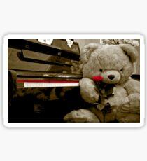 TEDDY BEAR PIANO ROSE FLOWER Sticker