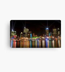 City of Lights, Brisbane Festival 2011 Canvas Print