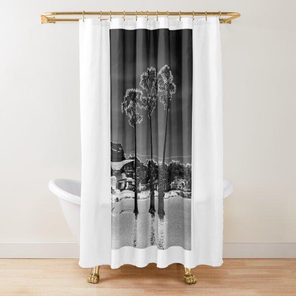 Tall Moon Trees Shower Curtain