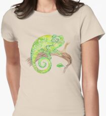 Swirly Chameleon Women's Fitted T-Shirt