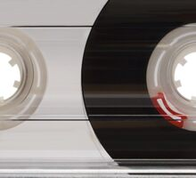Cassette Tape Mixtape Clear Plastic 2 Sticker Sticker