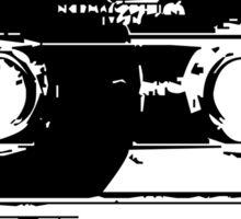 Cassette Tape Mixtape Stencil Sticker Sticker