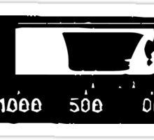 Cassette Tape Mixtape Stencil Center 5 Sticker Sticker