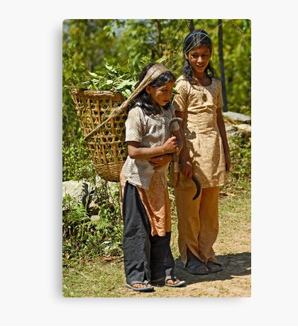 Nepali little workers Canvas Print