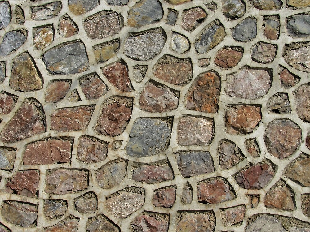 Multi-Colored Stone Wall by tomeoftrovius