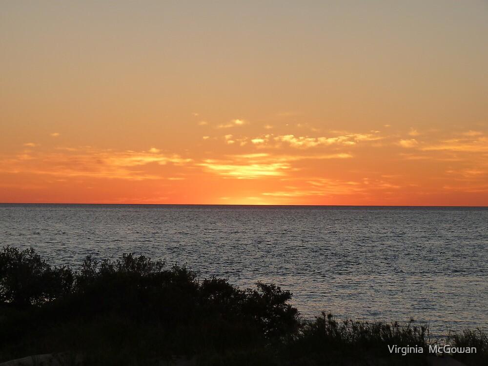 Monkey Mia Western Australia Sunrise #2 by Virginia  McGowan