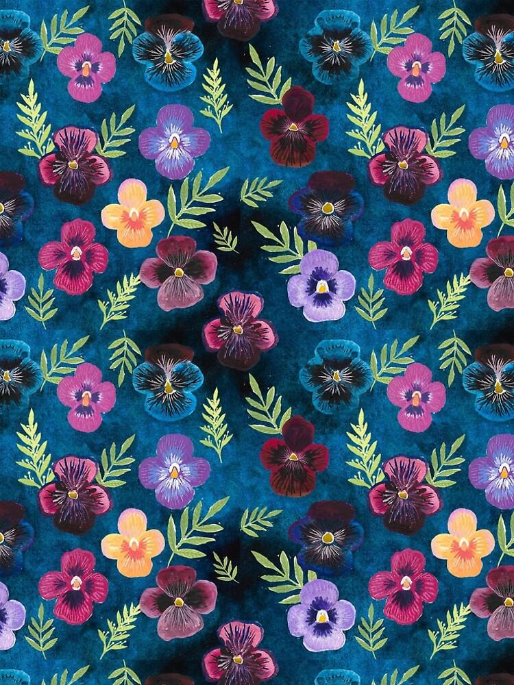 Colorful Pansies by emilienunez