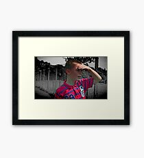 Just a Boy.... Framed Print