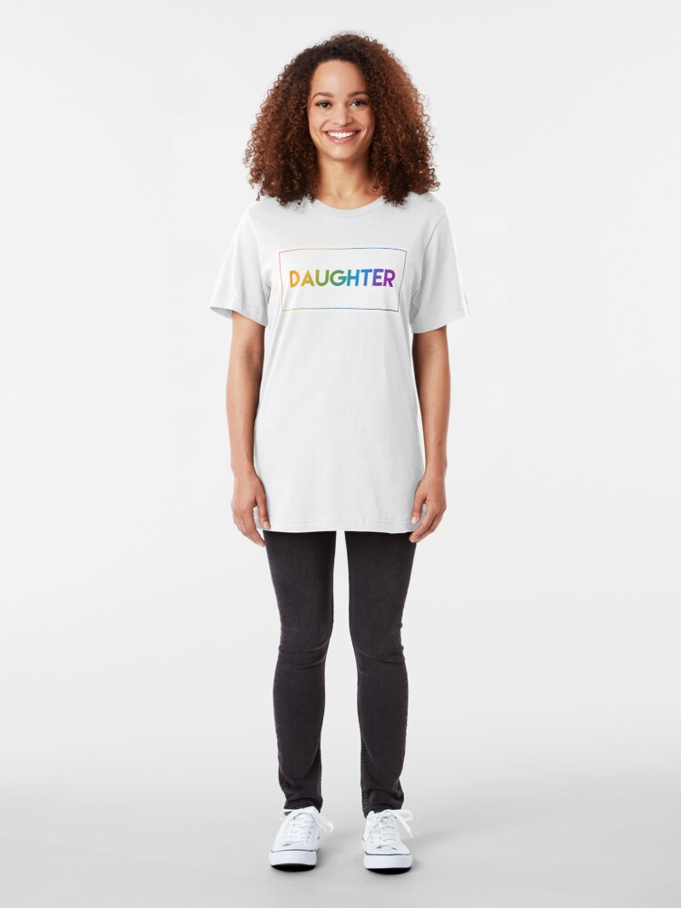 Alternate view of Daughter - Pride Edition Slim Fit T-Shirt