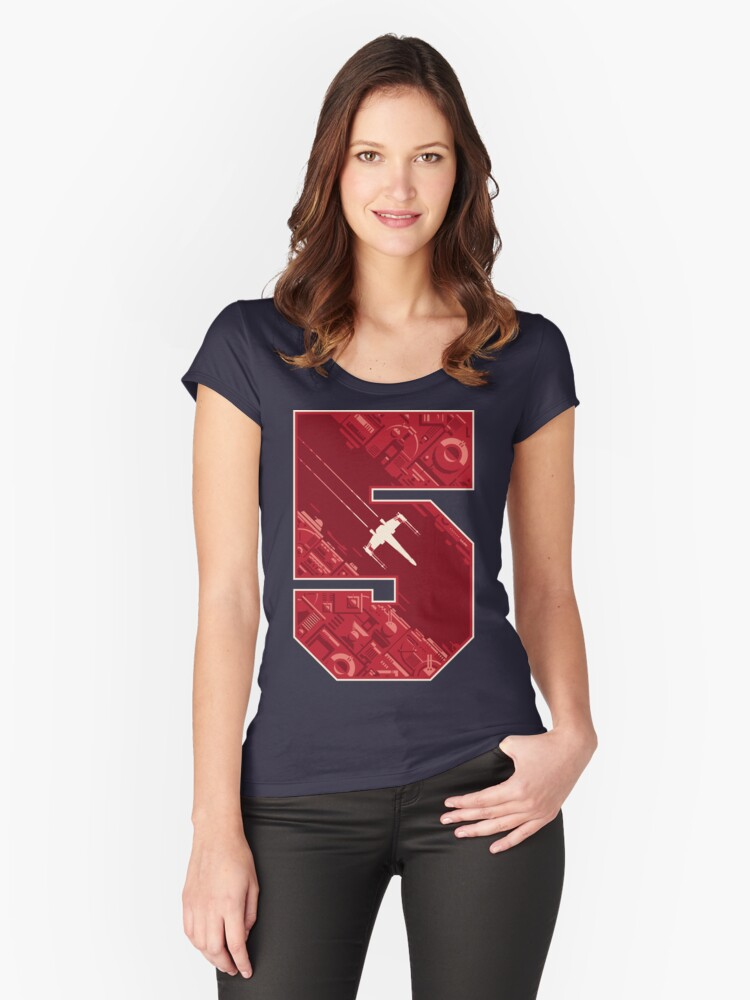 Red Five Women's Fitted Scoop T-Shirt Front