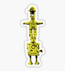 Robot Totem - BiLevel Yellow Sticker