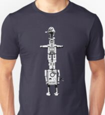 Robot Totem - BiLevel White T-Shirt