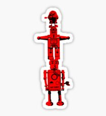 Robot Totem - BiLevel Red Sticker
