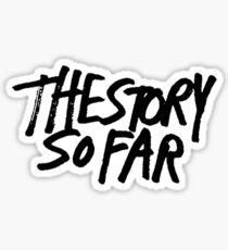 Die Geschichte so weit Logo Sticker