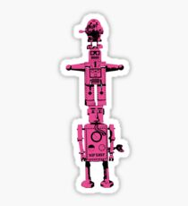 Robot Totem - BiLevel Pink Sticker