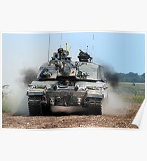 British Army Challenger 2 Main Battle Tank Poster