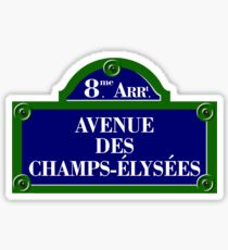 Avenue des Champs-Elysees, Paris Street Sign, France Sticker