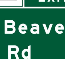 Big Beaver Road Sign, Michigan Sticker