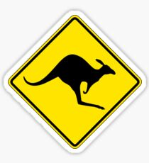 Kangaroo Crossing, Traffic Warning Sign, Australia Sticker