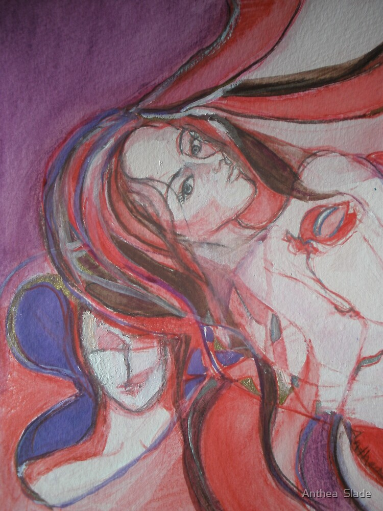 A Detail, 6 WIP's, A Final Translation, The Inspiration (Original) for SoJie 14 by Anthea  Slade