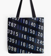 Airport information board. Tote Bag