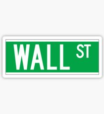 Wall St., New York Street Sign Sticker