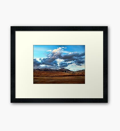 Where Buffalo Once Roamed Framed Print