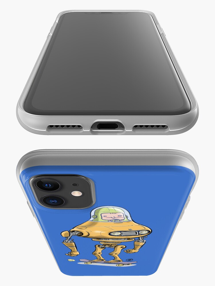 Alternate view of Skateboard robot iPhone Case & Cover