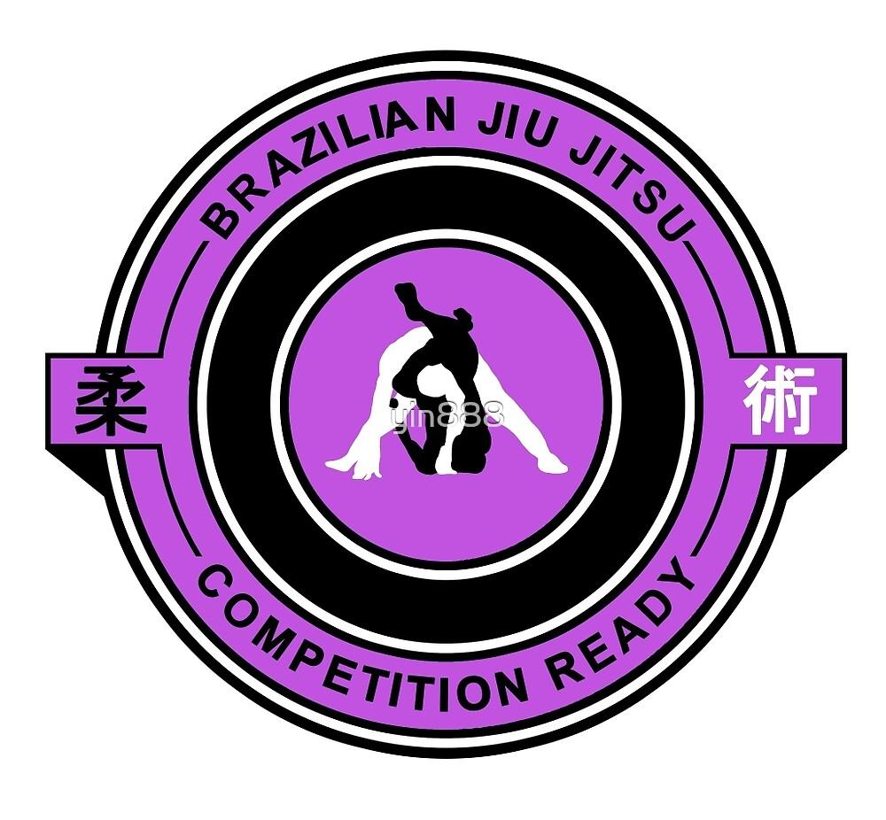 Brazilian Jiu Jitsu Competition Ready Triangle Choke Purple  by yin888