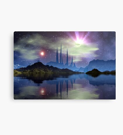 Temple Of The Twin Suns Canvas Print