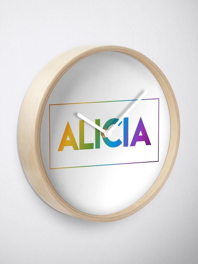 Alternate view of Alicia - Pride Edition Clock