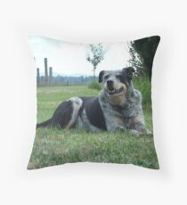 Who's A Happy Dog? Throw Pillow