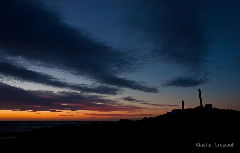 Leaning towards the night by Alastair Creswell