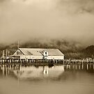 Old Bella Coola Wharf by Sue Ratcliffe