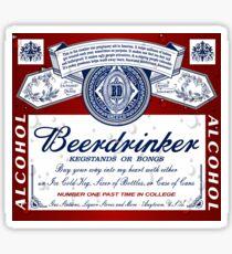 Beerdrinker Parody Beer Logo Sticker
