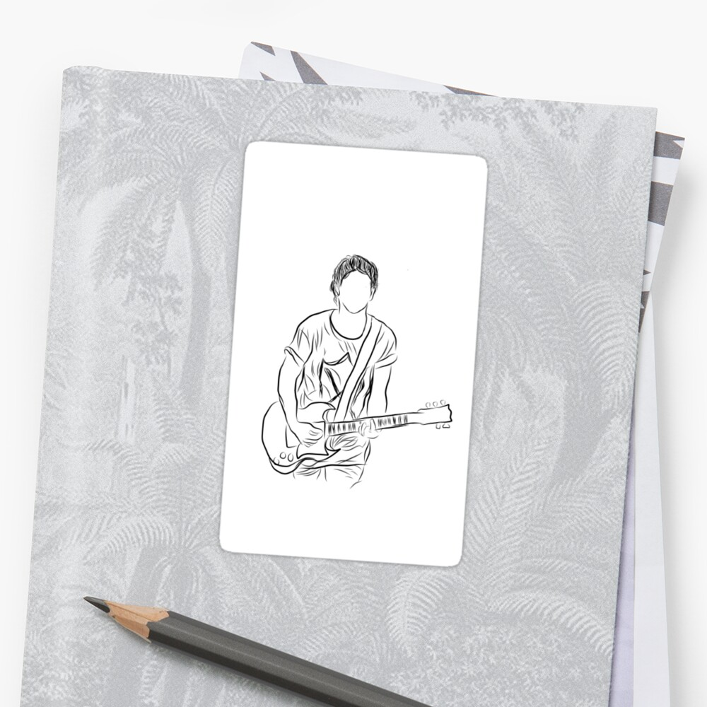 Niall horan outline drawing - sticker  by AestheticHoran